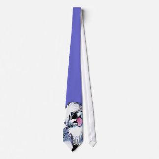 Vieja corbata inglesa del perro pastor de KiniArt