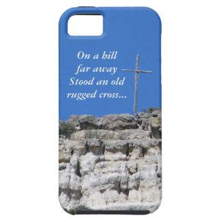 Vieja cruz rugosa funda para iPhone 5 tough
