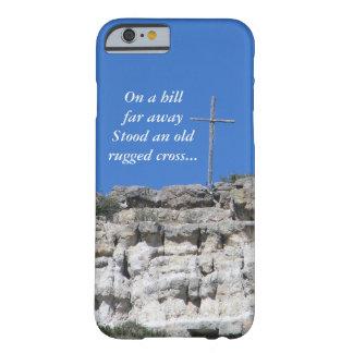 Vieja cruz rugosa funda para iPhone 6 barely there