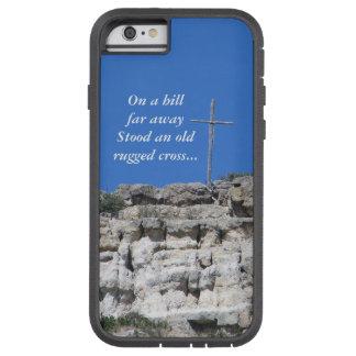 Vieja cruz rugosa funda para  iPhone 6 tough xtreme