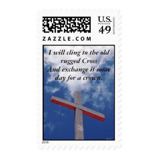 Vieja cruz rugosa - mensaje de Pascua Sellos
