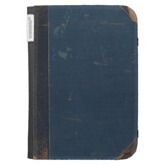 Vieja cubierta de libro azul con los bordes