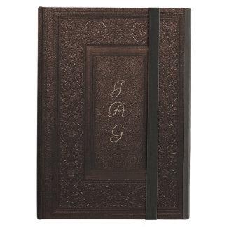Vieja cubierta de libro clásica de cuero del