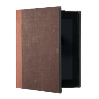Vieja cubierta de libro de Brown con la espina