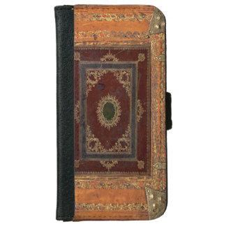 Vieja cubierta de libro de cuero adornada grabada carcasa de iPhone 6