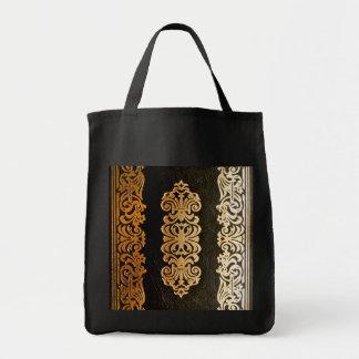 Vieja cubierta de libro de cuero bolsa tela para la compra