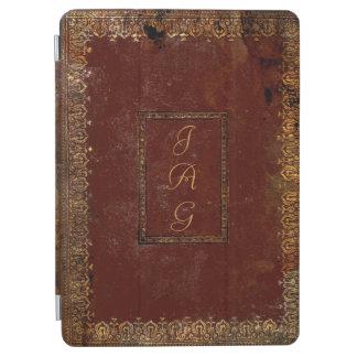 Vieja cubierta de libro de cuero del estilo del cubierta de iPad air