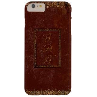 Vieja cubierta de libro de cuero del estilo del funda barely there iPhone 6 plus