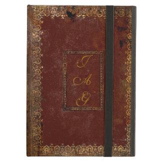 Vieja cubierta de libro de cuero del estilo del