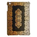 Vieja cubierta de libro de cuero del negro y del o iPad mini cárcasa