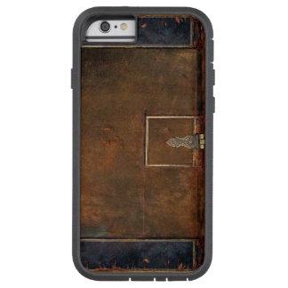 Vieja cubierta de libro de cuero funda de iPhone 6 tough xtreme