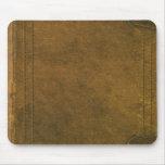 vieja cubierta de libro de cuero alfombrilla de ratones