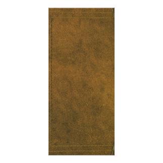 vieja cubierta de libro de cuero tarjeta publicitaria