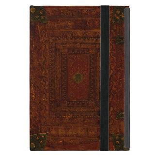 Vieja cubierta del cuero y de libro del latón iPad mini protectores