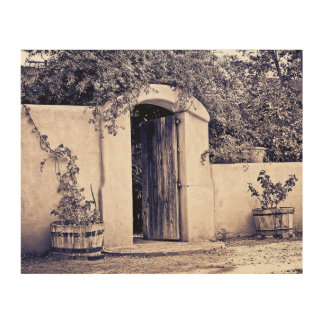 Vieja entrada de Mesilla New México Cuadro De Madera