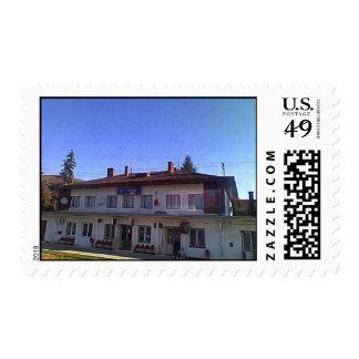 Vieja estación de tren sellos