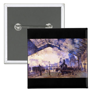 Vieja estación del St Lazarre de Claude Monet Pins