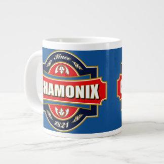 Vieja etiqueta de Chamonix Tazas Jumbo