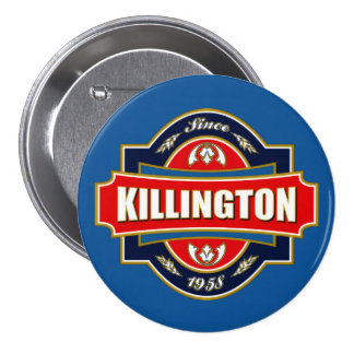 Vieja etiqueta de Killington Pin