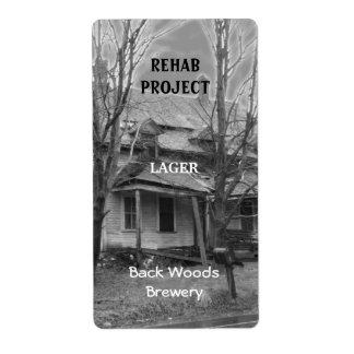 Vieja etiqueta de la cerveza del ~ de la casa etiqueta de envío