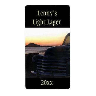 Vieja etiqueta de la cerveza dorada de Chevy Etiquetas De Envío