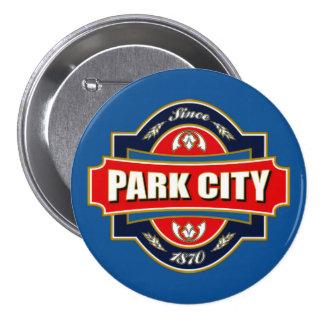 Vieja etiqueta de Park City Pin Redondo 7 Cm