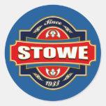Vieja etiqueta de Stowe