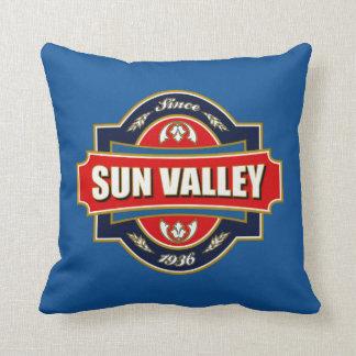 Vieja etiqueta de Sun Valley Cojín Decorativo