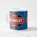 Vieja etiqueta de Sun Valley Tazas Jumbo