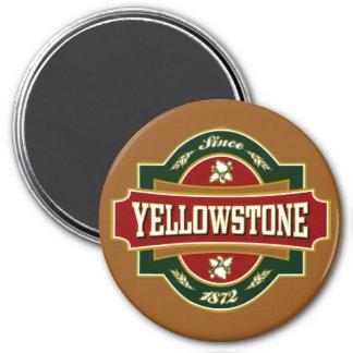 Vieja etiqueta de Yellowstone Imán Redondo 7 Cm