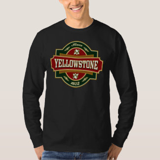 Vieja etiqueta de Yellowstone Playera