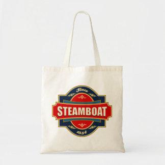 Vieja etiqueta del barco de vapor bolsa tela barata
