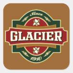 Vieja etiqueta del glaciar