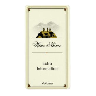 Vieja etiqueta del vino del granero etiqueta de envío