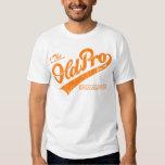 Vieja favorable familia (naranja del vintage) camisas