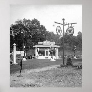 Vieja gasolinera 1925 poster
