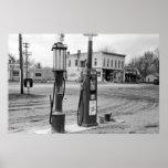 Vieja gasolinera de Iowa; 1940 Impresiones
