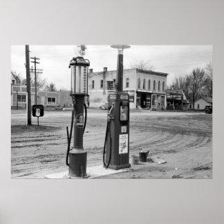 Vieja gasolinera de Iowa 1940 Impresiones