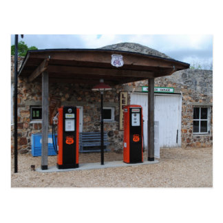 Vieja gasolinera en la ruta 66 tarjeta postal