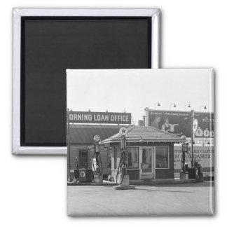 Vieja gasolinera, los años 20 imán para frigorífico