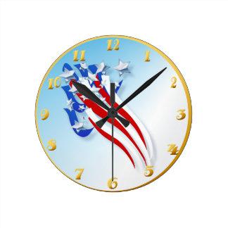 Vieja gloria arrebatadora Wallclock Reloj Redondo Mediano