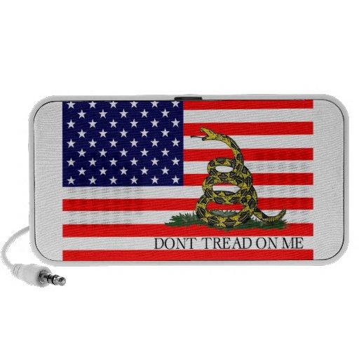 Vieja gloria/bandera de Gadsden combinada iPod Altavoz