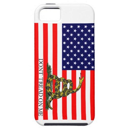 Vieja gloria/bandera de Gadsden combinada iPhone 5 Protectores