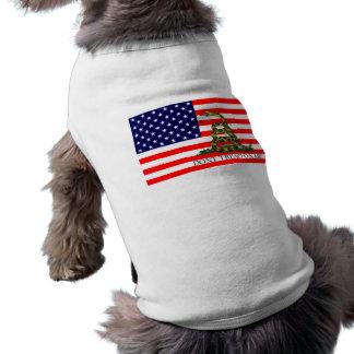 Vieja gloria/bandera de Gadsden combinada Camisa De Perrito