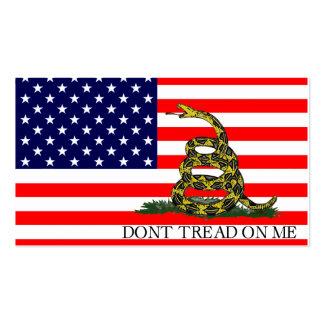 Vieja gloria/bandera de Gadsden combinada Tarjeta De Visita