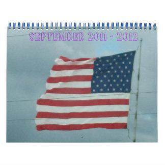 Vieja gloria y país calendario de pared