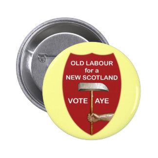 Vieja insignia escocesa de trabajo del botón de la