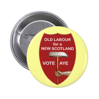 Vieja insignia escocesa de trabajo del botón de la pin redondo de 2 pulgadas