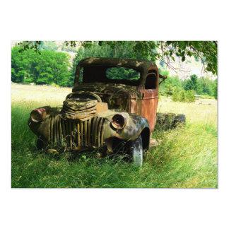 Vieja invitación antigua del camión del vintage invitación 12,7 x 17,8 cm