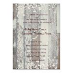 Vieja invitación de madera pálida del boda de la invitación 12,7 x 17,8 cm